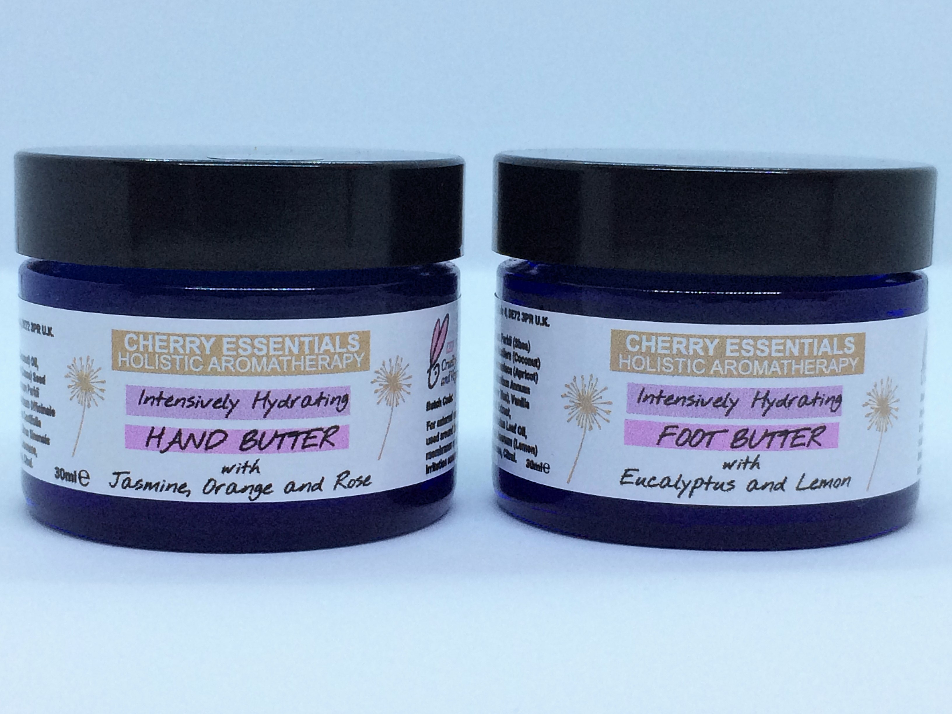 Intensively Hydrating Treats for Hands and Feet Gift Set. Contains: Hand Butter 30ml, Foot Butter 30ml