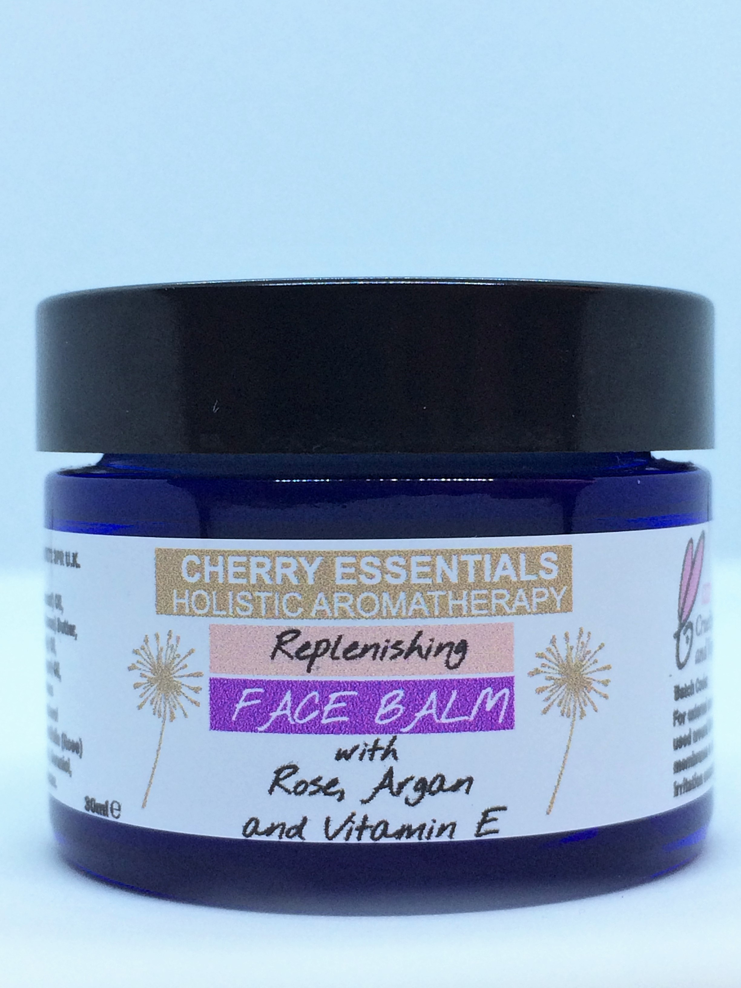 Replenishing Face Balm with Rose, Argan and Vitamin E.