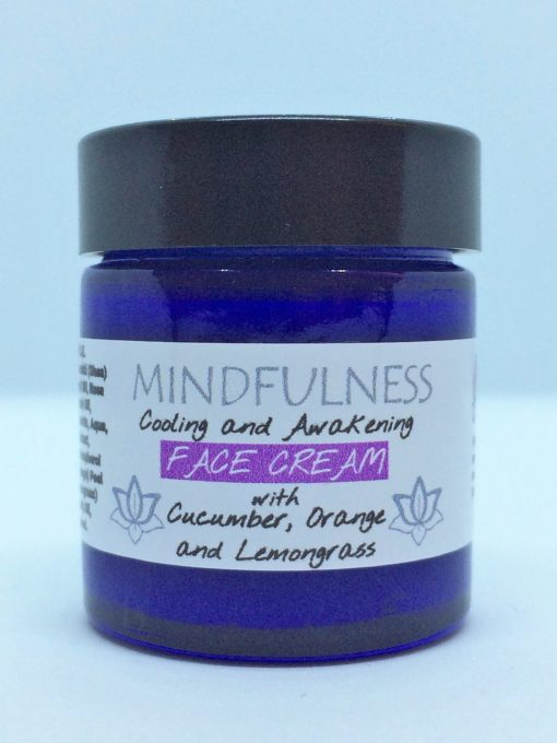 MINDFULNESS Cooling and Awakening Face Cream with Cucumber, Orange and Lemongrass